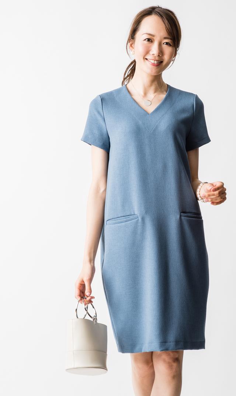【ヴィリーナ(VIRINA)】セーラナーシングドレス(スモークブルー)
