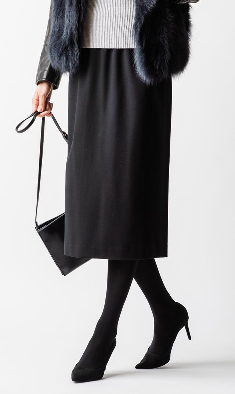 【ヴィリーナ】ローレンポンチタイトスカート(ブラック)