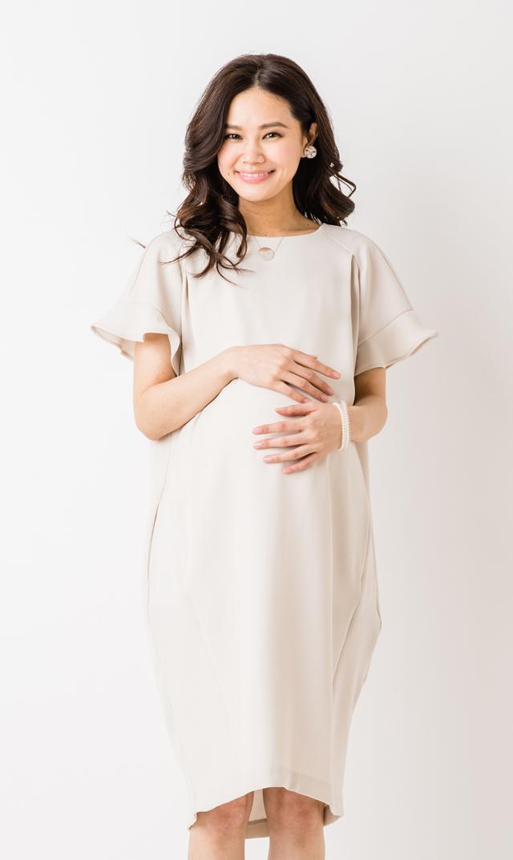 【ヴィリーナ(VIRINA)】エイミーナーシングドレス(グレージュ)