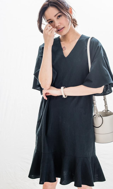 【ヴィリーナ(VIRINA)】デイジーナーシングドレス(ブラック)[VERY WEB掲載]