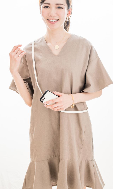 【ヴィリーナ(VIRINA)】デイジーナーシングドレス(グレージュ)