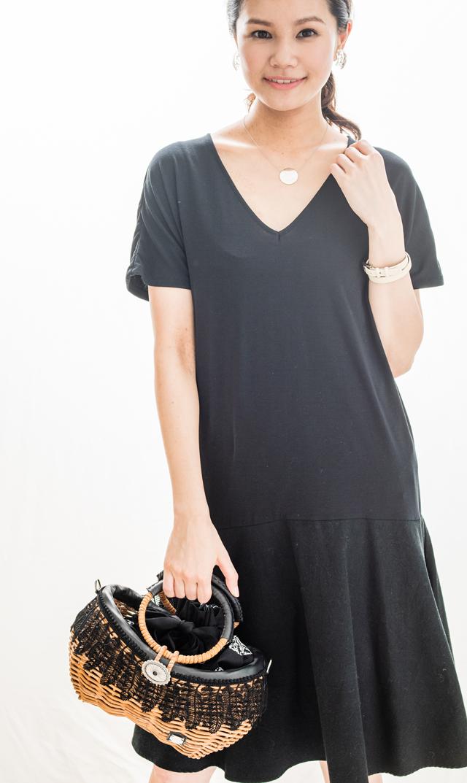【ヴィリーナ(VIRINA)】シェリーナーシングドレス(ブラック)