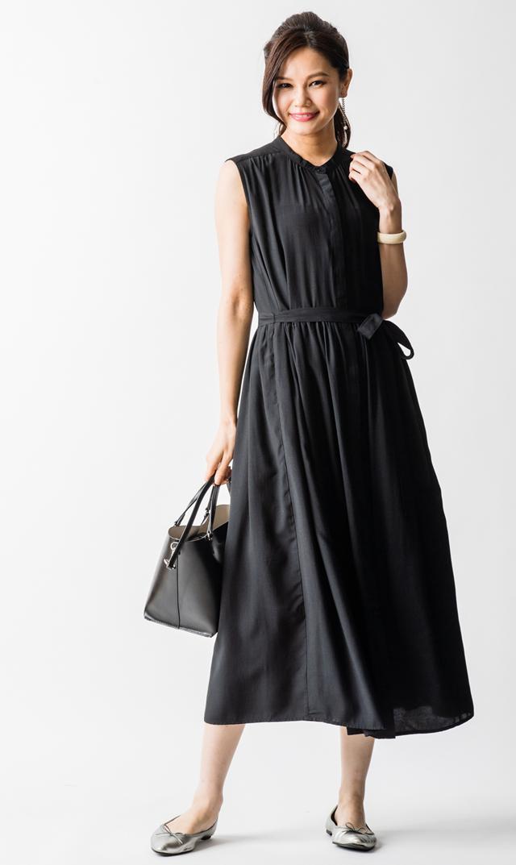 【ヴィリーナ(VIRINA)】リラナーシングドレス(ブラック)