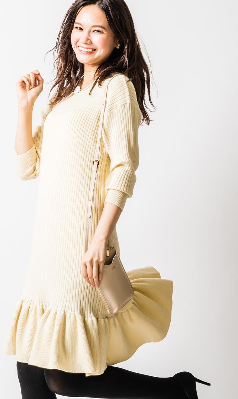 【ヴィリーナ×友利新】セリーヌナーシングドレス(アイボリー)
