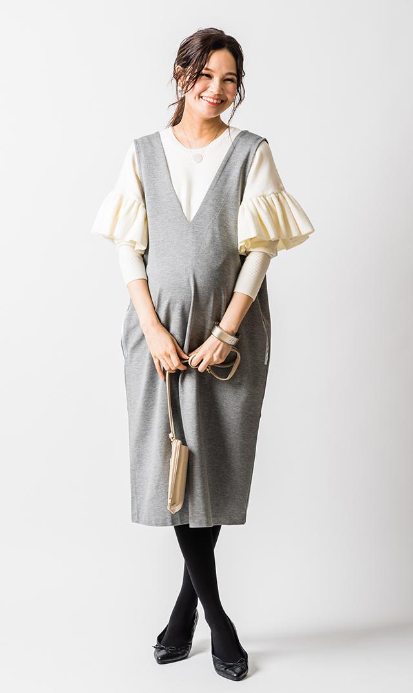 【ヴィリーナ】アイナナーシングジャンパースカート(ライトグレー)
