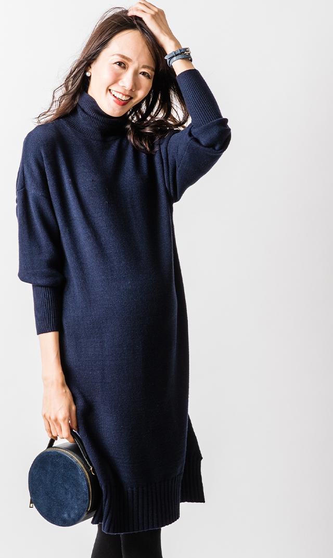 【ヴィリーナ】ブレンダナーシングドレス(ネイビー)
