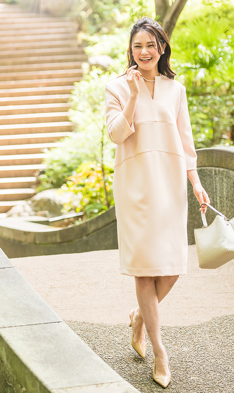 【ヴィリーナ】ヘーゼルナーシングドレス(シェルピンク)