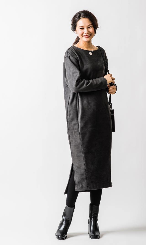【ヴィリーナ】ウォーム・ジンジャーナーシングドレス(チャコール)
