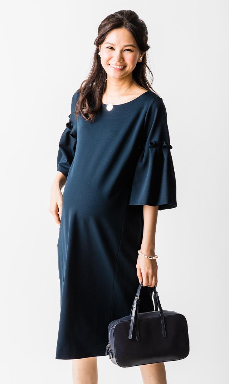 【ヴィリーナ】レイチェルナーシングドレス(ネイビー)