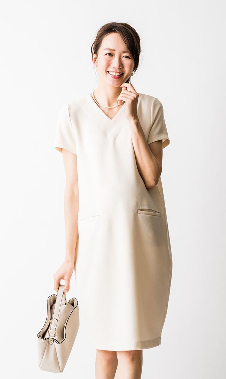 【ヴィリーナ】セーラナーシングドレス(シェルホワイト)