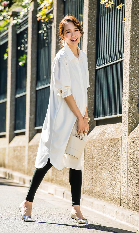 【ヴィリーナ】ロージーシャツドレス(ホワイト)