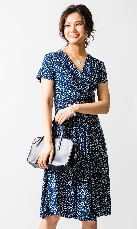 【ヴィリーナ】ミンディーナーシングドレス(ミントネイビー)