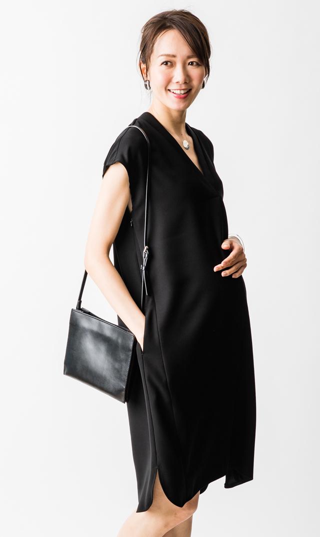 【ヴィリーナ】ソニアナーシングドレス(ブラック)