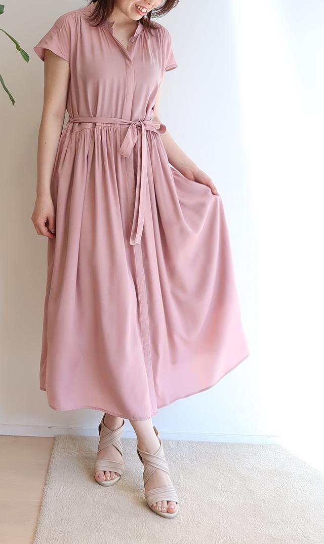【ヴィリーナ】リラナーシングドレス(ピンク)