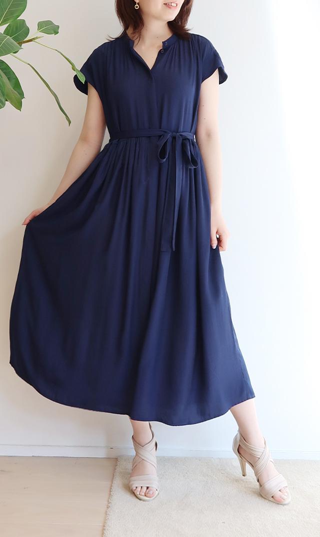 【ヴィリーナ】リラナーシングドレス(ネイビー)