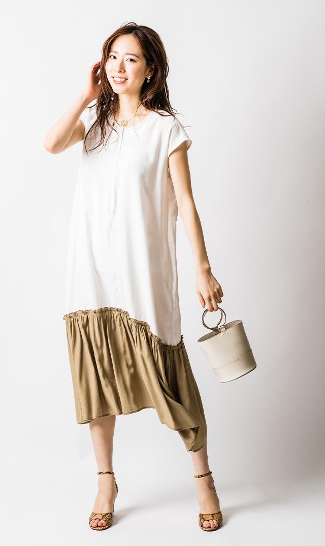 【ヴィリーナ】ニコナーシングドレス(ホワイト)