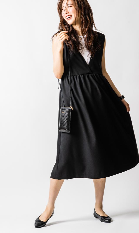 【ヴィリーナ】ココナーシングジャンパースカート(ブラック)