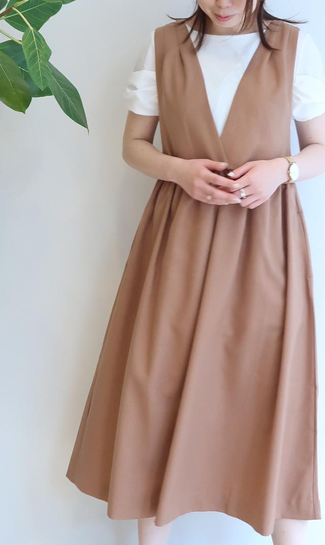 【ヴィリーナ】ココジャンパースカート(キャメル)
