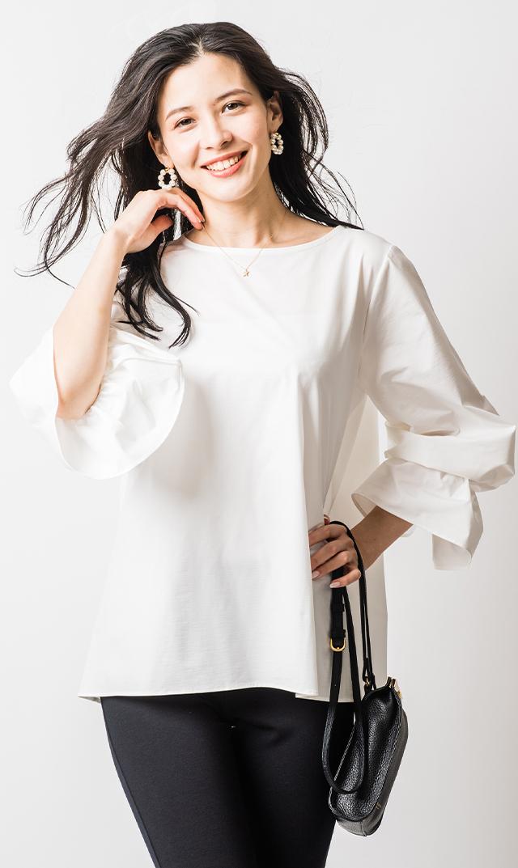 [マタニティ・授乳OK]【ヴィリーナ】ステイシーブラウス(ホワイト)