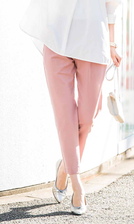 【ヴィリーナ】ノンマタニティ/ジョシュパンツ(ピンク)※5月再入荷予定
