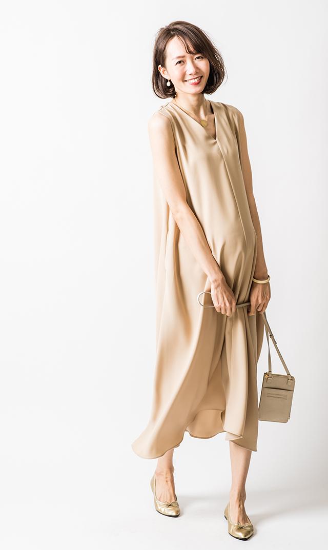 【ヴィリーナ】サシャ4wayナーシングドレス(ベージュローゼ)