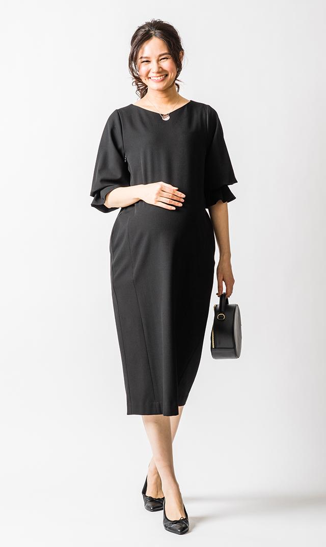 【ヴィリーナ】アイシャ2wayナーシングドレス(ブラック)