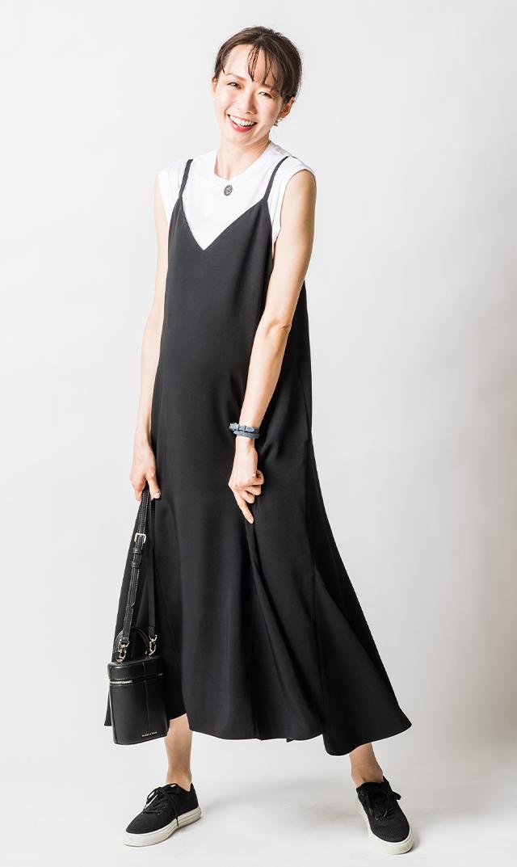 【ヴィリーナ】エスタナーシングドレス(ピアノブラック)