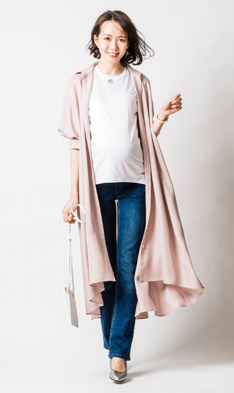 【ヴィリーナ】カトリーナシャツドレス(シャンパンピンク)