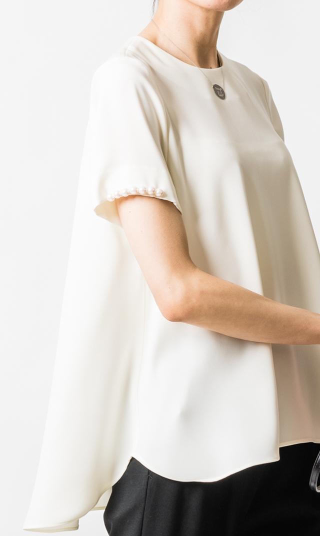 【ヴィリーナ】ポーリーンパールトップス(ホワイト)
