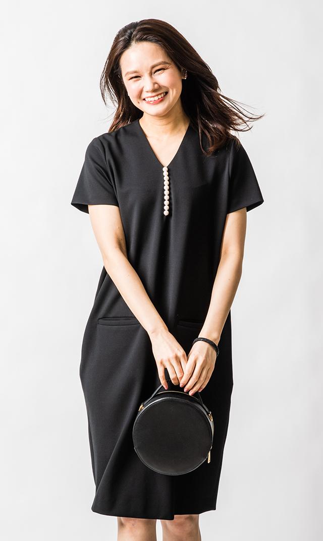【ヴィリーナ】イネスパールナーシングドレス(ブラック)