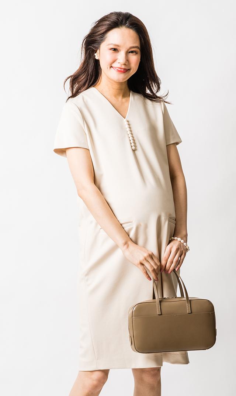 【ヴィリーナ】イネスパールナーシングドレス(エクリュ)