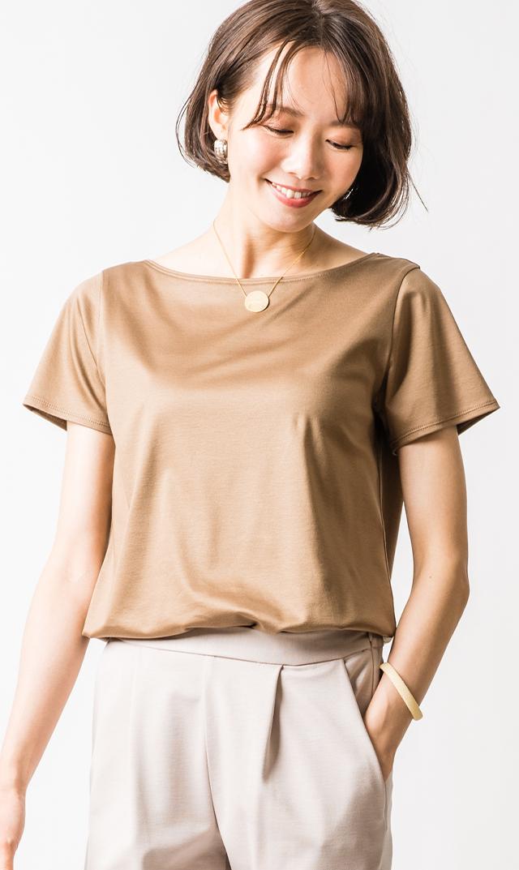 【ヴィリーナ】オリビアTシャツ(モカベージュ)