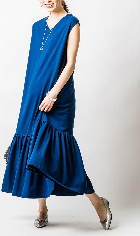 【ヴィリーナ】ベネットナーシングドレス(ブルークローバー)