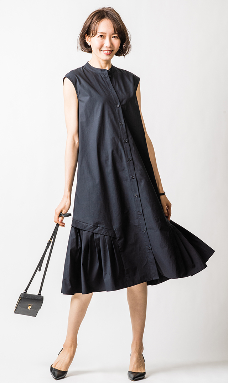 【ヴィリーナ】グレイシーナーシングドレス(ネイビーブラック)