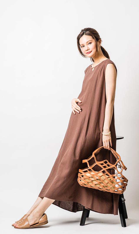 【ヴィリーナ】ハーモニーナーシングドレス(ブラウン)