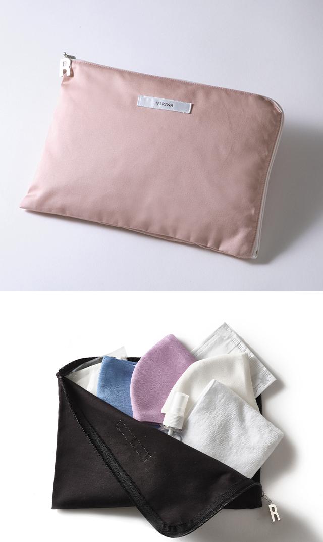 【ヴィリーナ】抗菌・抗ウイルス機能繊維加工技術クレンゼ®使用のマスクケース(ピンク)