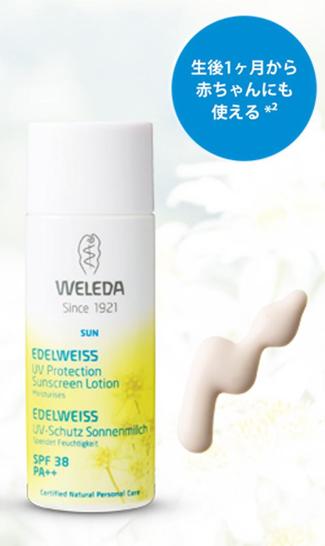 【ヴェレダ(WELEDA)】エーデルワイスUVプロテクト50ml