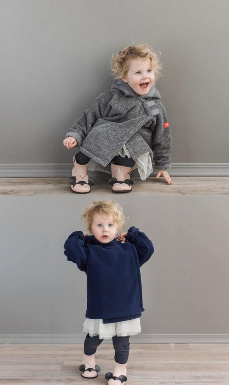【アメリカンウィジョン(American Widgeon)】フリースフードジャケット(2色展開)/12ヵ月-6歳