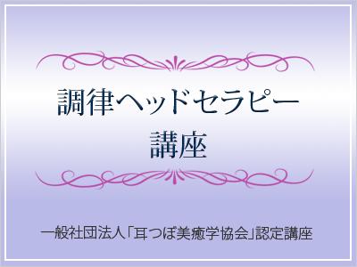 調律ヘッドセラピー講座 2月8日(金)午前10時 池袋開催