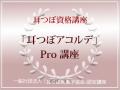 耳つぼアコルデPro講座 8月4日(金)午前10時/山口県岩国市 開催