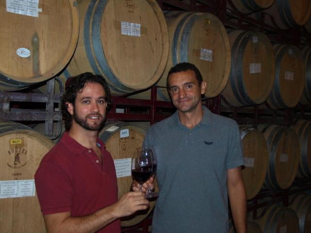 ディエゴ氏(右)とアルバロ氏(左)