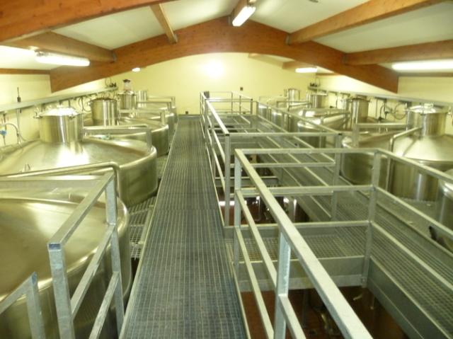 とてもクリーンな醸造設備