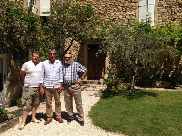 オリヴィエ氏(左)、フランソワ氏(中央)、ステファン氏(右)