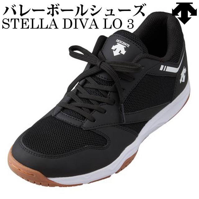 【2020新作】デサント(DESCENTE) バレーボールシューズ STELLA DIVA LO3(ステラディーバロー3) [DV1PJB05BK] ブラック 最新モデル