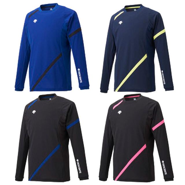 【1枚までメール便OK】デサント(DESCENTE) バレーボール 長袖 ライトゲームシャツ [DVB5111] 人気 襟なし ユニセックス(男女兼用)【2021新作】