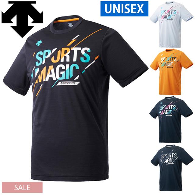 【1枚までメール便OK】デサント(DESCENTE) バレーボール SportsMagic 半袖プラクティスシャツ [DVUPJA52] メンズ レディース 全胸グラフィックデザイン【セール】