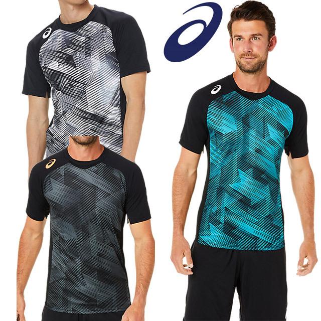 【1枚までメール便OK】アシックス(asics) バレーボール 半袖Tシャツ JPショートスリーブトップ [2051A287] トレーニングウェア
