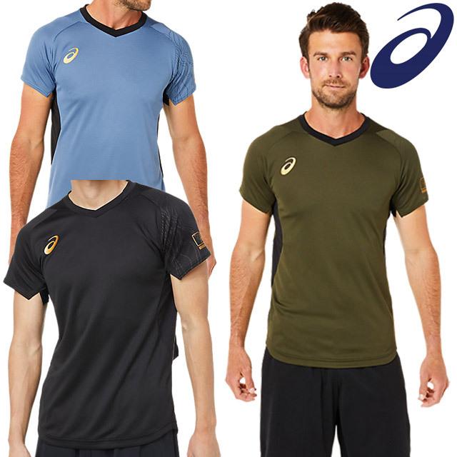 【1枚までメール便OK】アシックス(asics) バレーボール 半袖Tシャツ ELショートスリーブトップ [2051A291] トレーニングウェア