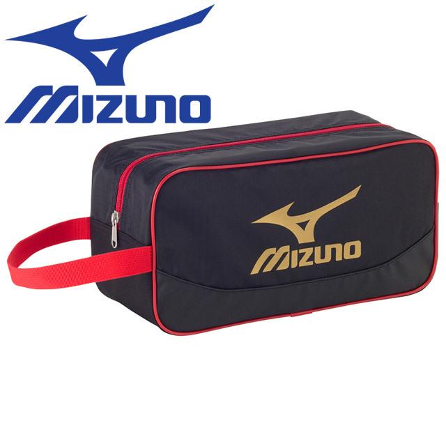 【即納】ミズノ(mizuno) シューズケース [33JM7206-95] ブラック×ゴールド シューズバッグ