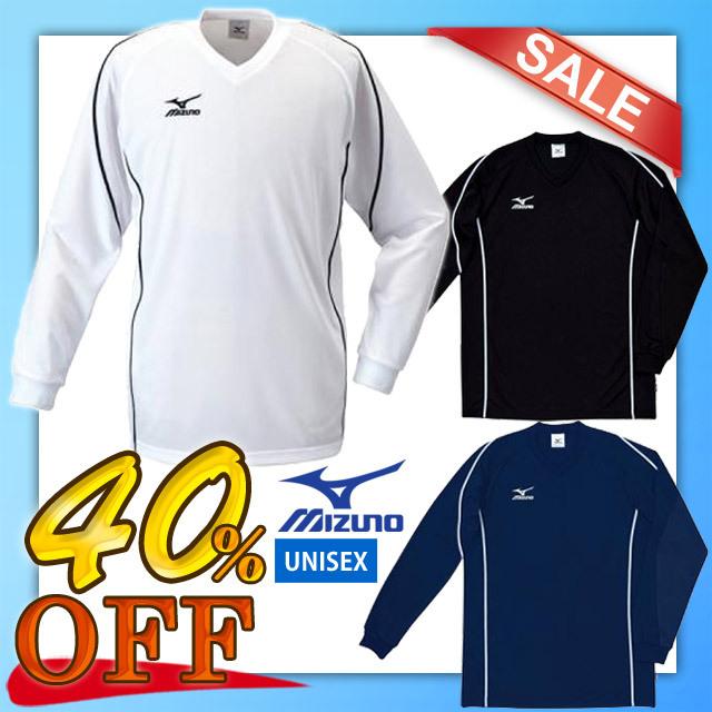 【1枚までメール便OK】お得な40%OFF!ミズノ(mizuno) 長袖Tシャツ バレーボールウエア 59SP121 <低価格でベーシックなプラクティスシャツ> 男女兼用サイズ